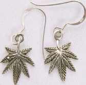 STERLING SILVER LEAF EAR RINGS ER4